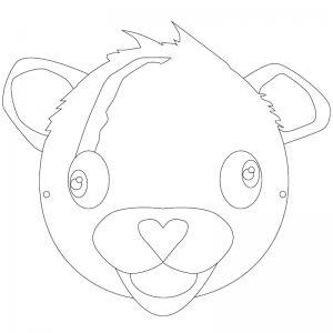 Un masque Fortnite afin de se déguiser en Ours rose, experte des câlins. Il suffit d'imprimer le masque, de le colorier et votre enfant pourra jouer à Fortnite dans la vraie vie. N'oubliez pas d'imprimer le masque sur du papier épais afin qu'il soit plus