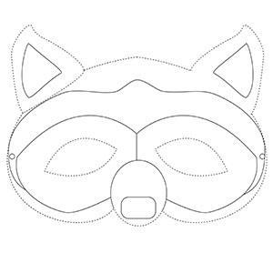 Un coloriage de masque du carnaval