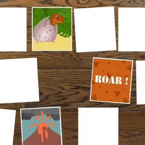 Le jeu du memory de dinosaure est très drôle à faire !  Retrouvez les couples en utilisant votre mémoire. Imprimez la feuille en double et proposez à votre enfant de résoudre ces énigmes.