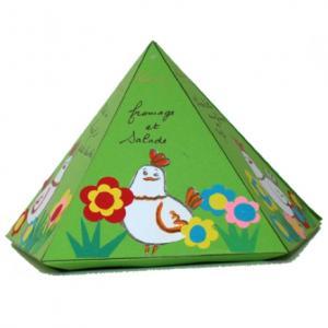 Réaliser un menu pour décorer la table les jours de printemps. Le modèle est facile à réaliser avec les enfants.
