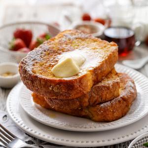 Une recette de pain perdu rapide pour toutes celles qui manque de temps. Les ingrédients ne changent pas, ce sont les mêmes que ceux de la recette de pain perdu classique, mais les étapes sont réduites pour un ga