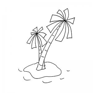 Palmier dessin : vous recherchez un dessin de palmier ou un coloriage à imprimer gratuitement avec des palmiers ? Voici donc notre sélection de coloriages sur les palmiers et les piles désertes