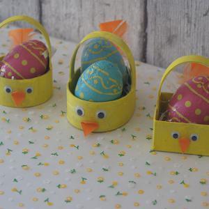 Un tuto pour décorer son panier de Pâques