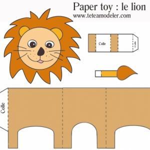 Paper toy lion à imprimer