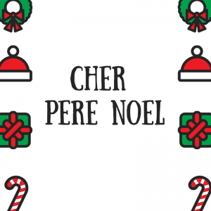 """Modèle de papier à lettre pour le Père Noël permettant de guider l'enfant pour qu'il n'oulie pas les informations importantes pour une réponse."""" 1=""""Papier à lettre Père N"""
