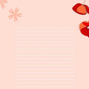 Papier au motif saint valentin pour envoyer un message d'amitié ou d'amour