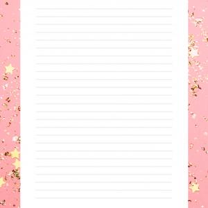 Un modèle de papier à lettres à imprimer, le papier à lettre rose est illustré de deux petits amoureux - un papier à lettre romatique à souhait !