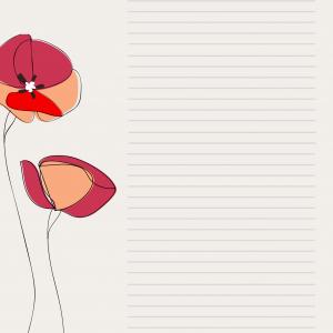 Papier à lettre de saint Valentin : Papier de joyeuse saint Valentin décoré de la poupée au coffret