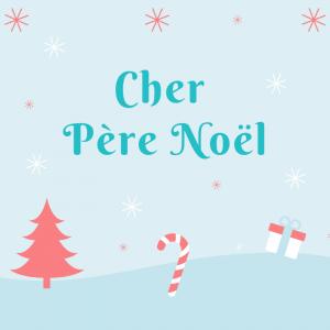 Du papier à lettre à imprimer gratuitement pour écrire une lettre au Père Noël. Ce papier à lettre de Noêl est décoré avec le dessin de deux petits bonhommes d