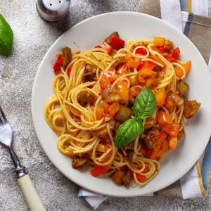 Penne poivron tomate, une recette de pâtes aux légumes : Les pennes poivron tomate est une recette de pâtes aux légumes, une recette pour une alimentation plus équilibrée en légume