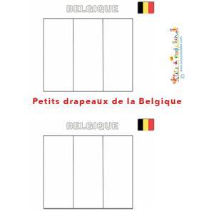 Petit drapeau de la Belgique