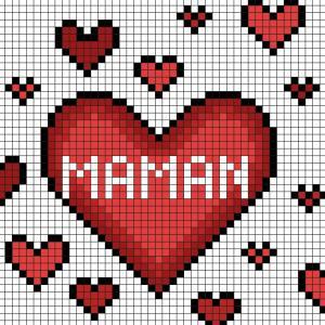 Comment faire un cadeau pour la Fête des mères en Pixel Art ? Découvrez notre modèle simple qui vous permettra de créer facilement des coeurs pour maman en Pixel Art. Il vous suffira de prendre du papier quadrillé et de suivre notre modèle carré après car