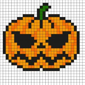 Retrouvez tous nos Pixel Art d' Halloween avec le chat noir, la citrouille, la tête de mort et encore d'autres modèles à imprimer sur le thème de Noël
