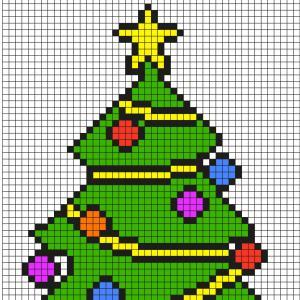 Mon beau sapin en Pixel Art, roi des forêts ! Découvrez comment réaliser ce beau Pixel Art grâce au modèle. Prenez une feuille quadrillée afin de le reproduire et d'avoir votre propre sapin de Noël.