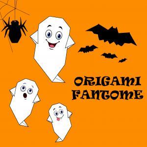 Fantôme en origami : les étapes pour fabriquer à Halloween, votre fantôme en papier grâce à l'origami. Les étapes sont détaillés afin de refaire facilement ce bricolage. Il y aura des petits fantômes partout le soir du 31 octobre pour Halloween.
