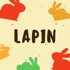 """""""Lapin """" est la première strophe du poème """"Bestiaire"""" de Valérie Bordon. Une poésie à imprimer, à colorier. La poésie lapin permet aux enfants"""
