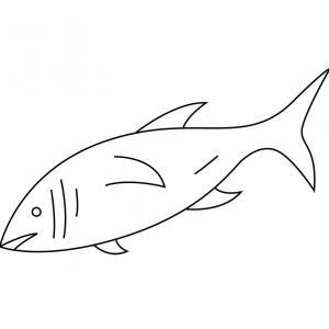 Un poisson à imprimer et à colorier. Il peut servir pour une activité sur le thème de la mer ou du 1er avril. coloriage gratuit