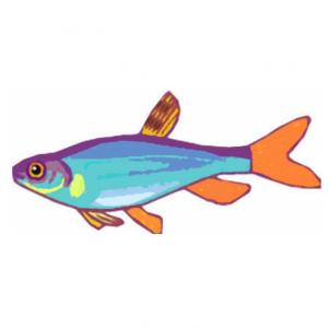 Imprimer le poisson d'avril à découper 9. Un poisson a imprimer pour faire des blagues au 1 er avril