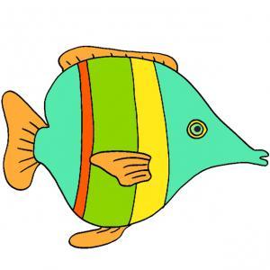 Imprimez l'image du poisson, découpez-le et accrochez-le dans le dos de vos amis pour les farces du 1er avril ! Une image de poisson vert avec une bande rouge à imprimer pour les farces du 1er avril !