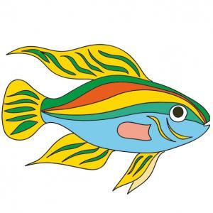 """Une image de poisson """"exotic"""" à imprimer pour faire plein de farces le jour du 1er avril"""