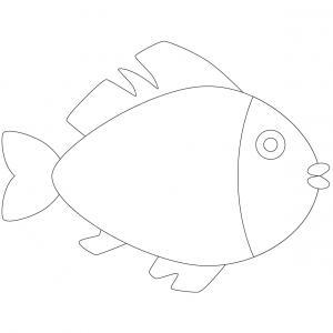 Imprimer le poisson d'avril à découper 5. Un poisson pour le 1er avril