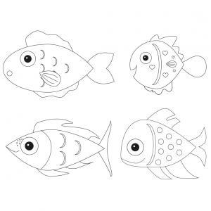 Poisson d'avril à imprimer gratuitement et à colorier pour que les enfants se préparent au 1er avril. Ils seront ravis de faire eux-même leurs poissons d'avril afin de les coller sur le dos de leurs amis.