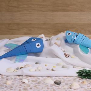tuto pour bricoler des poissons en papier articulés