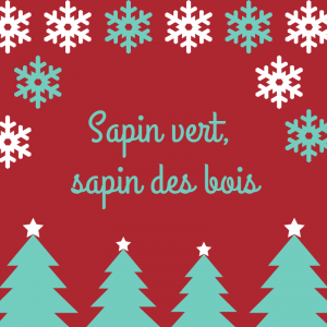 Poésie Sapin vert, sapin de bois pour réciter avec les enfants.Poésie version à colorier.