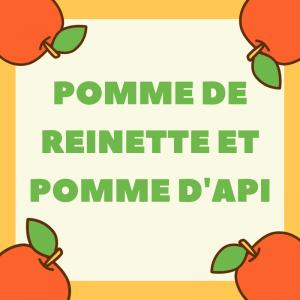 """Pomme de reinette est une chanson pour enfant aussi connue comme """"Pomme de reinette et pomme d'api"""". C'est une chanson très populaire auprès des enfants. Retrouvez les paroles de la comptine, la chanson en vidéo mais aussi la partition à imprimer et d'aut"""