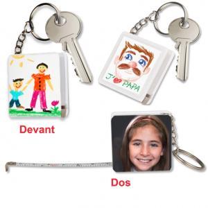 Porte-clés mètre à décorer