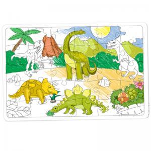 Puzzle à colorier DINOSAURES