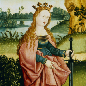 Sainte Catherine ou Ste Catherine est en réalité Catherine d'Alexandrie. Une femme d'une grande beauté, intelligente et très éloquente qui est devenue martyre en refusant l'empereur Maxence en mariage. Retrouvez son histoire entière sur le site !