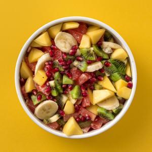 Recette de salade pour découvrir le gout et le nom des fruits exotiques.
