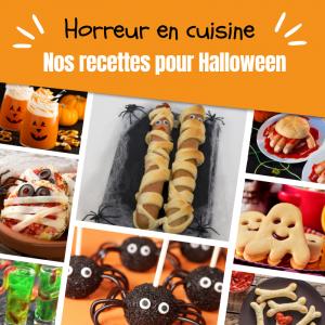 Vous cherchez une recette pour Halloween ? Vous avez envie d'un gateau monstrueux ? De cookies couleur citrouille ou encore des glaçons yeux de monstres ? Ce dossier consacré à la cuisine monstrueuse est fait pour vous ! Vous retrouverez des tas d'idées p
