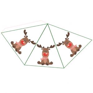 Une idée de petite décoration de Noël en Papier : renne en papier à coller. Imprimez le renne en papier, découpez-le et collez-le ... c'est terminé !