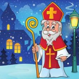 """Au Pays Bas, on fête le 6 décembre de manière particulièrement solennelle. """"Sinterklaas"""" (Saint Nicolas ) arrive en Hollande vers le mi-novembre en bateau d'Espagne où il habite le reste de l"""