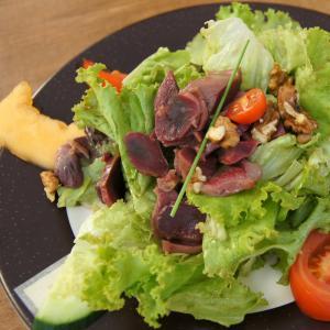 Salade de tagliatelles de courgettes et de magret de canard. Cette salade de courgette est agrémentée de copeaux de parmesan et de tomates confites. Recette illustrée facile à faire pour tous.