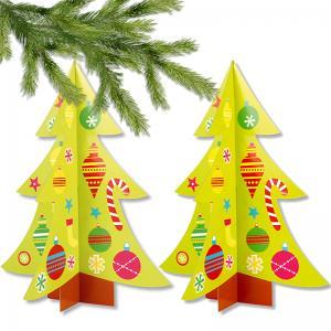 Sapin de Noël 3D décoré de gommettes