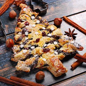 Recette du Sapin feuilleté de Noël au Nutella