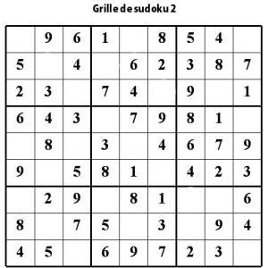 Sudoku de niveau 2 pour les enfants de primaire : grille 2