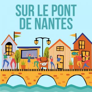 Sur le pont de Nantes un bal y est sonné.  Paroles et partition  de la chanson à coller par l'enfant dans un cahier de chants.