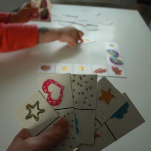 tuto bricolage enfants jeu de dominos