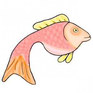 Imprimer le poisson tout en couleur  pour votre enfant - Ce poisson tout en couleur est à imprimer pour le 1er avril, tout simplement ! Un poisson du 1 er avril à imprimer et à découper pour le plus grand plaisi