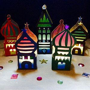 Un tuto facile et économique pour réaliser des petits temples en papier vitrail