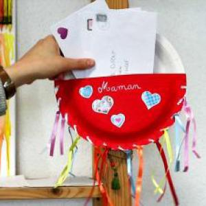 tuto pour bricoler avec les enfants un porte-courrier personnalisé