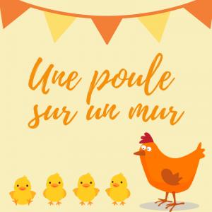"""Poésie """"Une poule sur un mur """"pour chanter avec les enfants. Paroles version à colorier."""