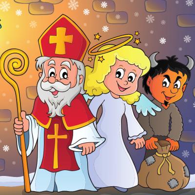 Saint Nicolas est toujours accompagné d'êtres mauvais qui représentent son exact opposé. Le Père Fouettard est le plus célèbre d'entre eux....