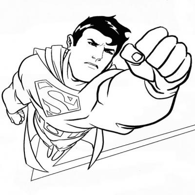 Coloriages de superman - Superman dessin ...