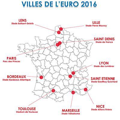 10 villes, 10 stades de l'EURO 2016