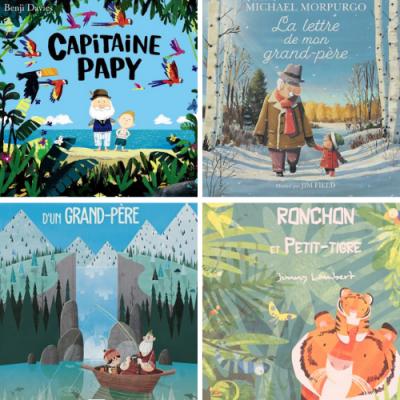 Voici une sélection de 13 albums jeunesse qui parlent du lien unique qui lie les enfants avec les grands parents et particulièrement leur papy.